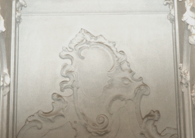 Plaster wall relief
