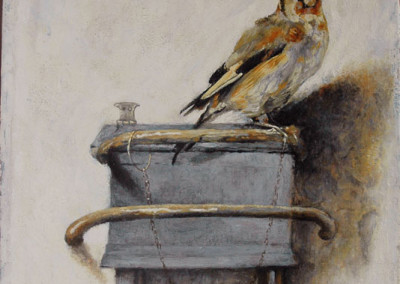 Oil reproduction of The Goldfinch after Carol Fabritius