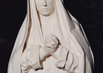 Casting in plaster of a clay copy of The Sad Virgin after Alonso El Cano