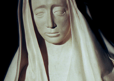 Plaster cast from clay copy of The Sad Virgin after Alonso El Cano