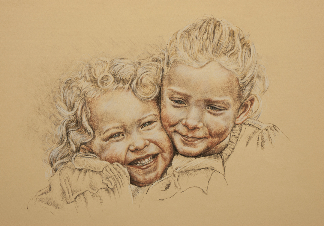 Portrait Drawings of Adults and Children