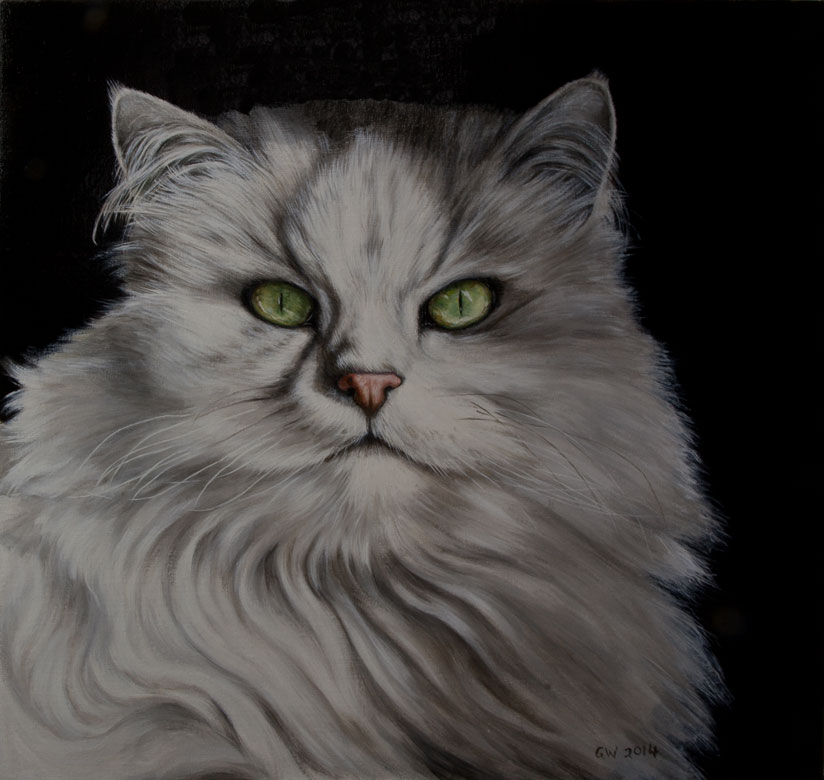 Portraits of Cats in Oil