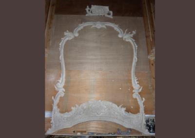 plaster copy of an original 18th C mirror frame