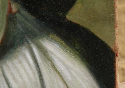 From photo to portrait painting of a cat in oil on canvas in a 19th C portrait style - detail 1