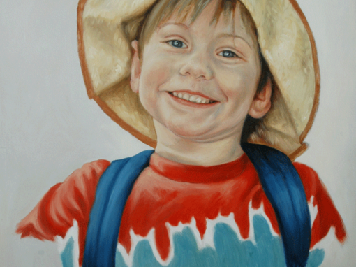 Portraits of Adults and Children in Oil