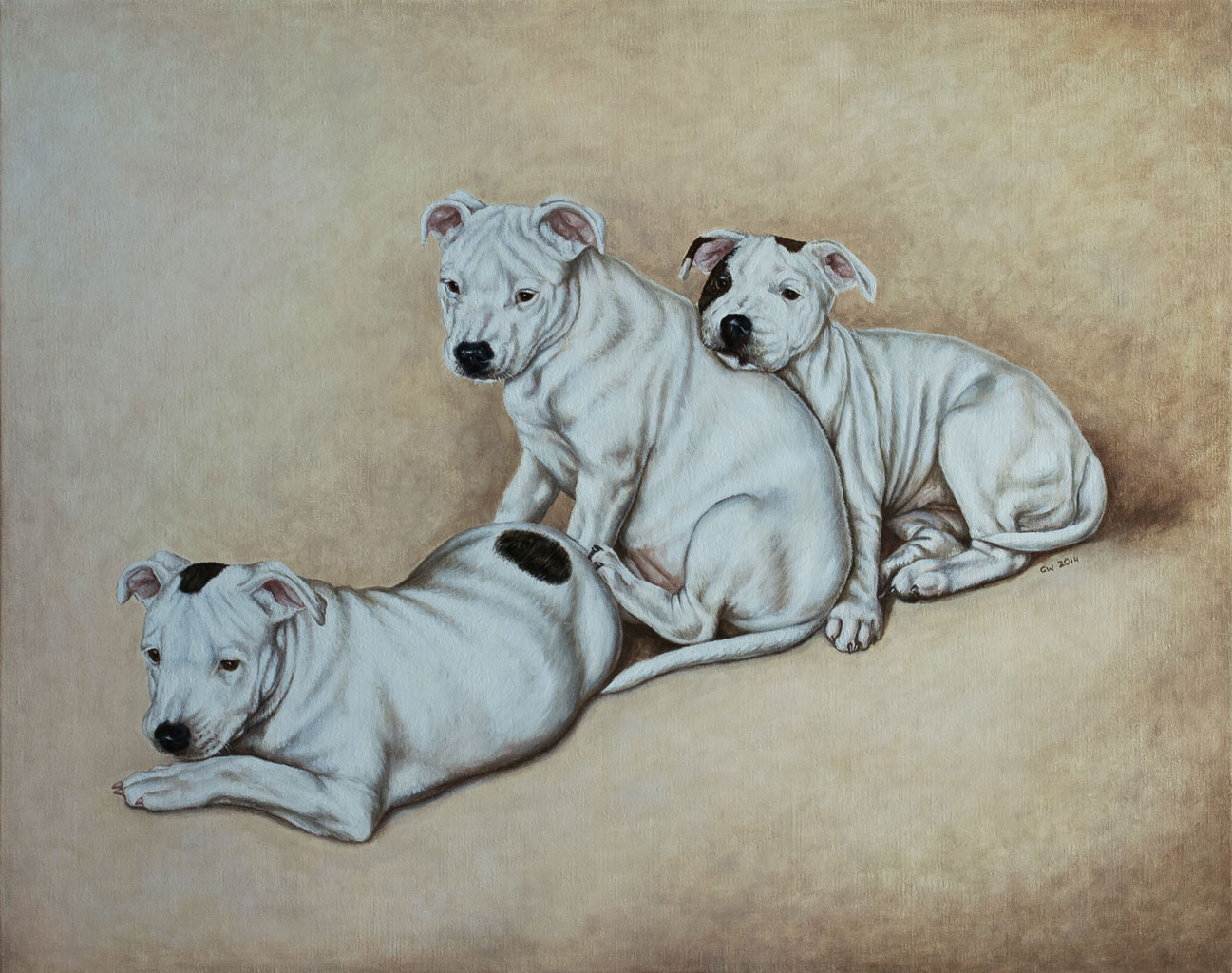 Portraits of Dogs in Oil